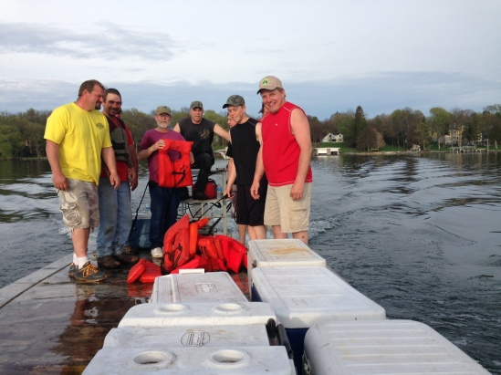 Fry release crew Manday May 12 2014