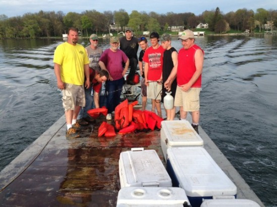 Mothers day Walleye release crew